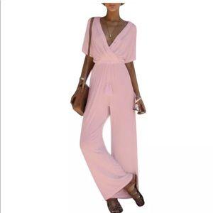 Women's baby pink jumpsuit